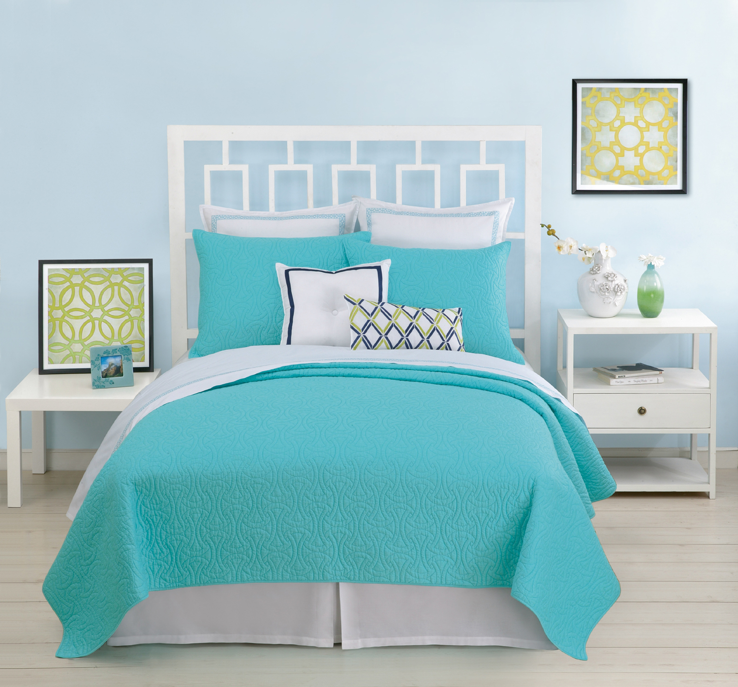Santorini coverlet turquoise by trina turk bedding beddingsuperstore
