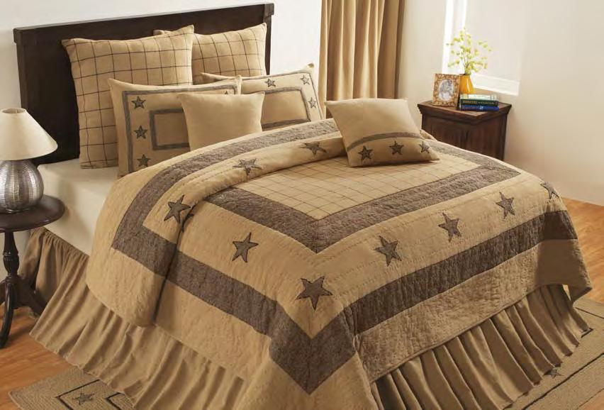 Burlap Star by IHF Home Decor BeddingSuperStorecom