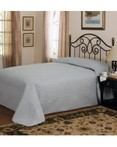 French Tile Quilted Dusty Blue Bedspread by American Traditions/Pem America