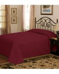 French Tile Quilted Deep Red Bedspread by American Traditions/Pem America