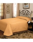 French Tile Quilted Gold Bedspread by American Traditions/Pem America