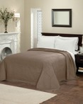 French Tile Quilted Taupe Bedspread by American Traditions/Pem America