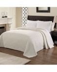 French Tile Quilted White Bedspread by American Traditions/Pem America